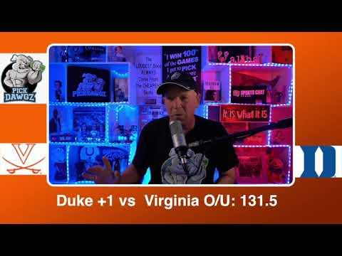 Duke vs Virginia 2/20/21 Free College Basketball Pick and Prediction CBB Betting Tips