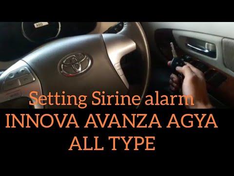 cara setting alarm grand new avanza karpet wn toyota innova 2016 mode silent dan membunyikan sirine agya all type
