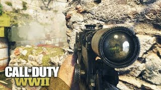 COD WW2 Sniping Gameplay (Call Of Duty: WWII)