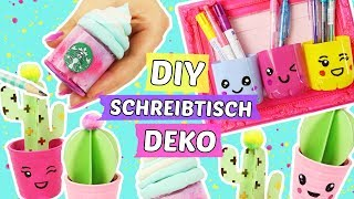 3 süße SCHREIBTISCH DEKO DIYs 💖TUMBLR & PINTEREST Style 😍Back to School Ideen!