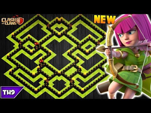 NEW TOWN HALL 9 FARMING/TROPHY BASE 2017! TH9 HYBRID BASE WITH REPLAYS!! - CLASH OF CLANS(COC)