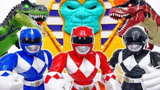 Dinosaurs Are Attacking Tayo Town~! Go Power Rangers #ToyMartTV