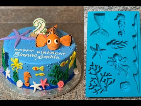 NEMO CAKE | SEA CREATURES MOLDER DEMONSTRATION | TUTORIAL