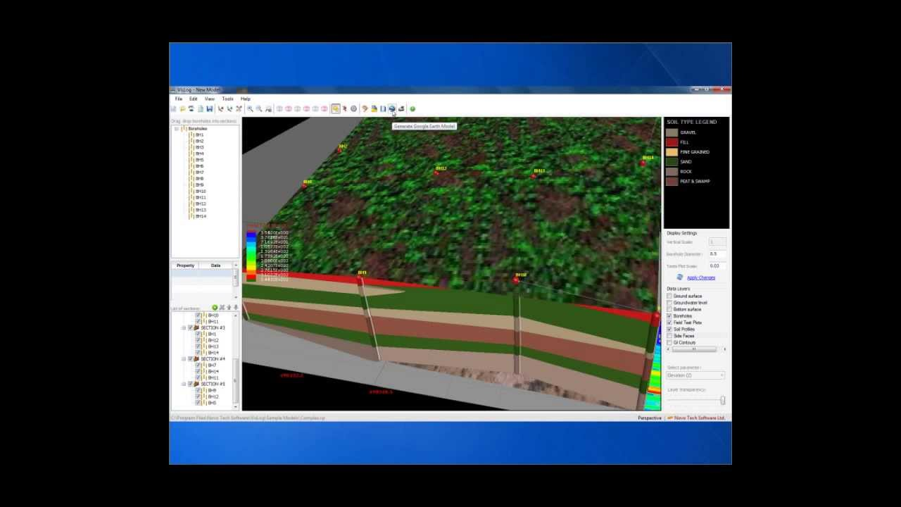 Vislog how to make google earth model from your soil for Soil 3d model
