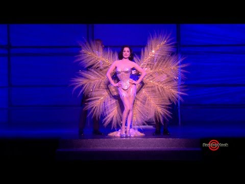 Dita Von Teese Dance Performance At Philipp Plein Spring Summer 2018 Fashion Show In NYC