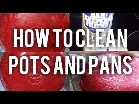 HOW TO CLEAN THE BOTTOM OF YOUR POTS AND PANS | KITCHEN TIPS