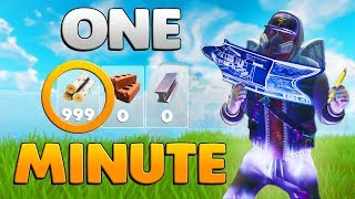 HOW TO HARVEST 999 WOOD IN 1 MINUTE | Fortnite Battle Royale Tips