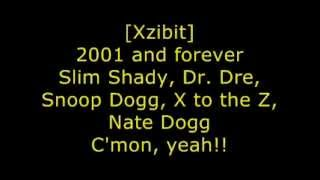 Eminem, Dr Dre, Xzibit, Nate Dogg and Snoop Dogg - Bit** Please II - Lyrics