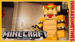 DIRT HUT?! • Minecraft Nintendo Wii U Edition • Super Mario Bros Mash-Up Survival Part 3