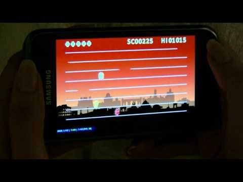 Jumping Droid Game On Samsung Galaxy S (Adobe AIR 2.5)
