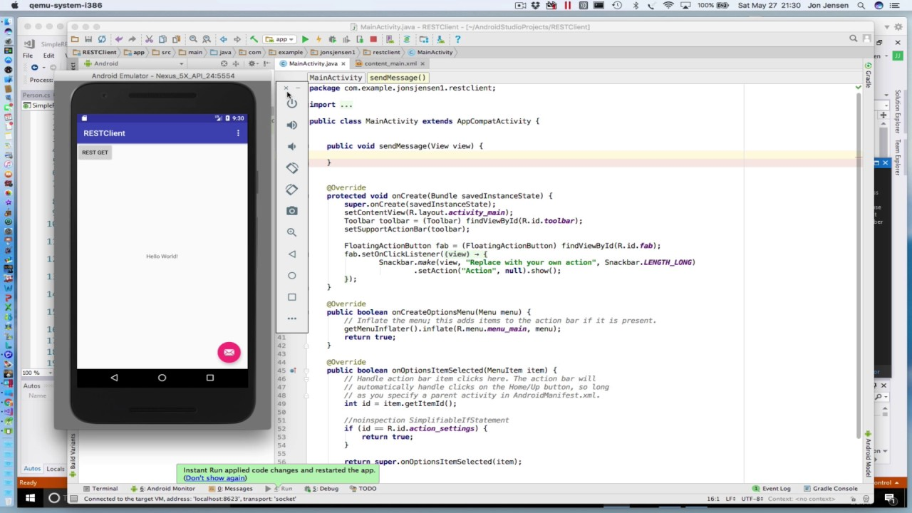 android rest client using spring rest youtube