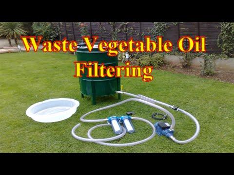 🔴 Making Biodiesel From Waste Vegetable Oil.  Oil Filtering System