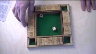 Shut Box 4 Rows - unusual format with variations on playing this classic game