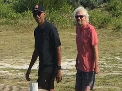 Barack And Michelle Obama Enjoy Well-Earned Holiday With Richard Branson And Family In Caribbean