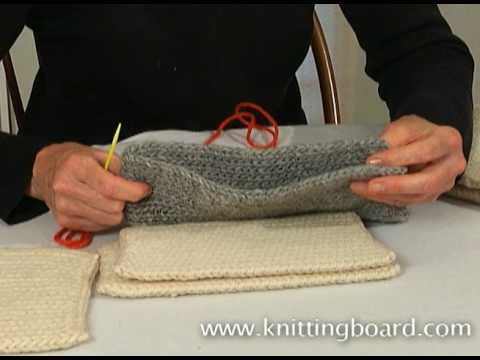Knitting Stitch Together : Sewing knit pieces together - YouTube