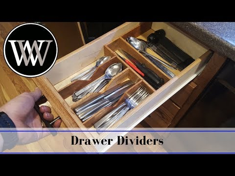 Making a Kitchen Drawer Organizer | DIY Hand Tool Woodworking Project