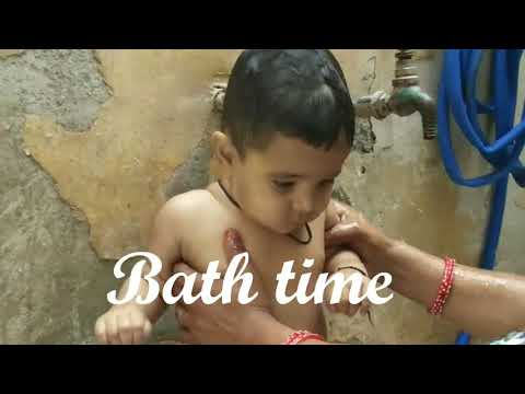 expirations of little boy during take bath. - YouTube