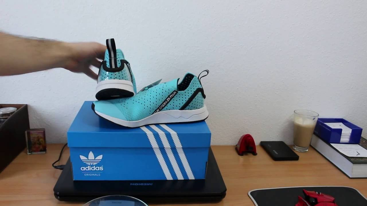 e744110d62d5d Adidas ZX Flux ADV ASYM Primeknit Unboxing and Review - YouTube