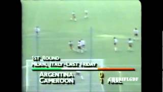 Argentine 0-1 Cameroun (Coupe du monde 1990)