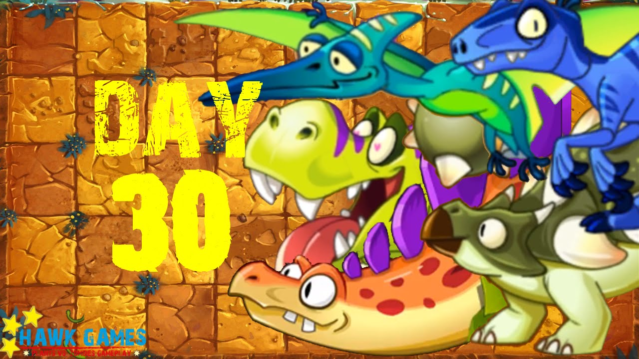 Plants Vs Zombies 2 Jurassic Marsh Day 30 Dinosaurs