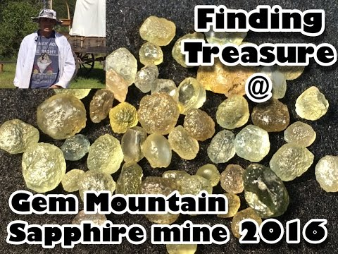 Gem Mountain Sapphire Mine in Philipsburg Montana - Mining A