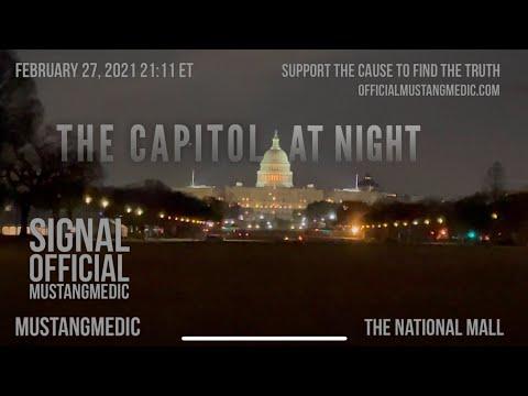 The National Mall Washington DC at night MustangMedic Vignettes #shorts