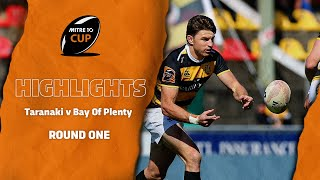 RD 1 HIGHLIGHTS | Taranaki v Bay Of Plenty (Mitre 10 Cup 2020)