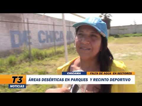 ÁREAS DESÉRTICAS EN PARQUES Y RECINTO DEPORTIVO DE CHICAMA