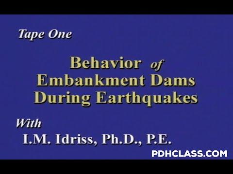 Behavior of Embankment Dams During Earthquakes Tape 1