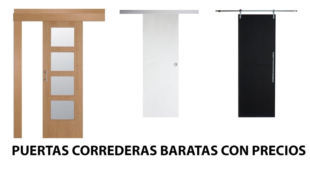 10 puertas correderas de interior baratas cristal madera - Puertas correderas cristal baratas ...