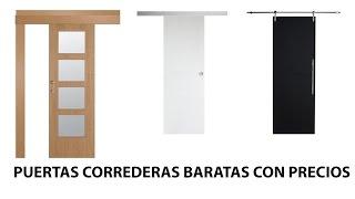 puertas correderas de interior baratas cristal madera y aluminio con precios