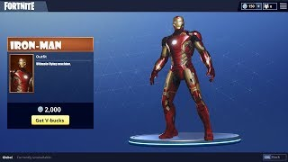 ALL NEW Iron-Man Skin in Fortnite Battle Royale