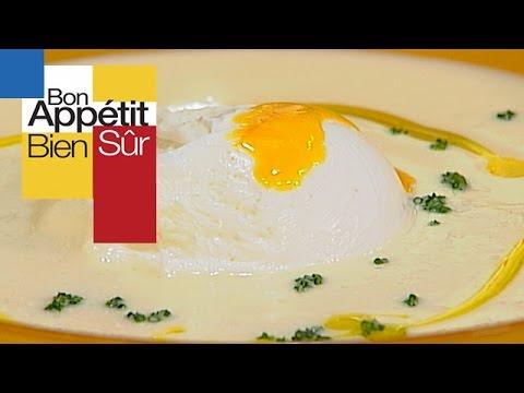 Veloute De Chou Fleur A L œuf Poche Youtube