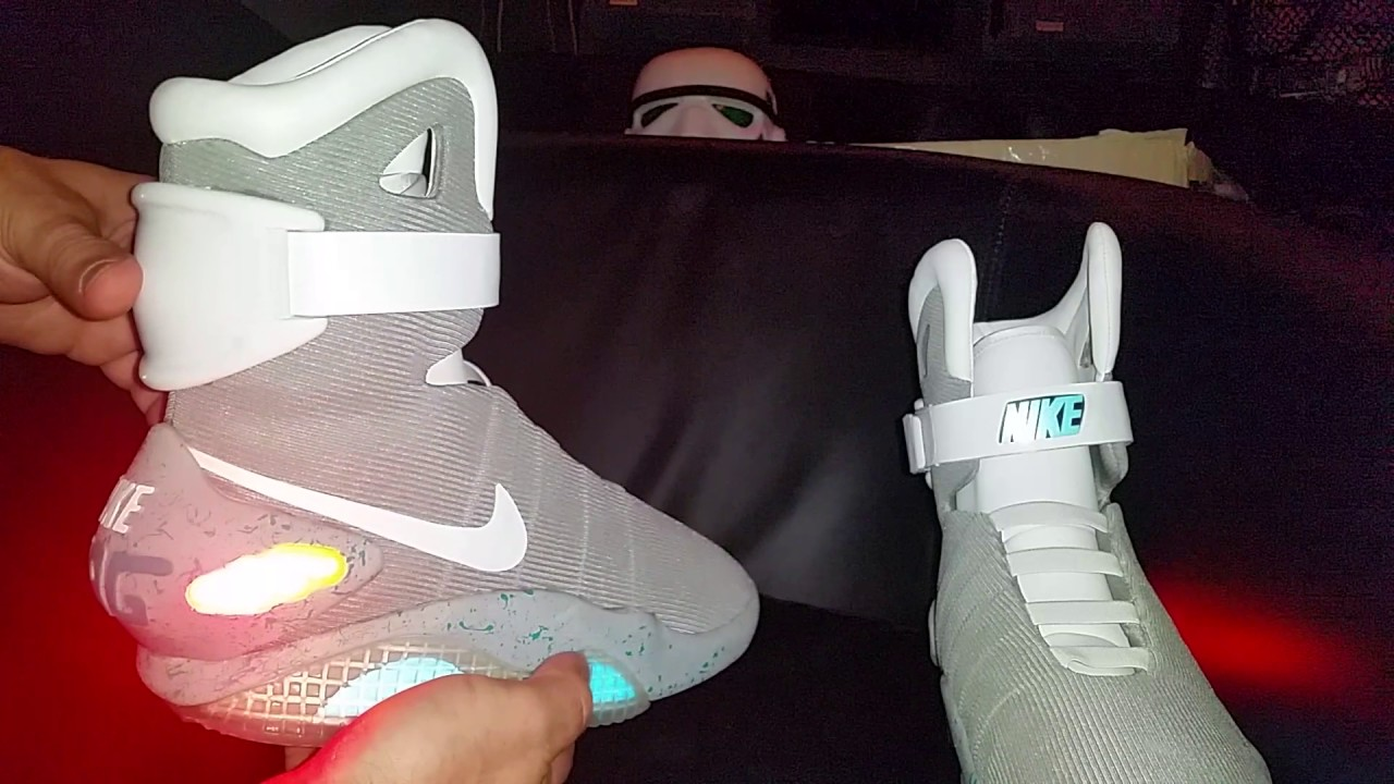 Marty McFly's Power lacing Nike shoes YouTube