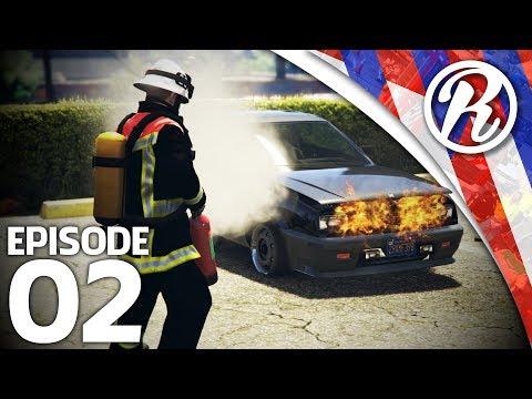 [GTA5] BRANDWEER KOMT IN ACTIE BIJ AUTOBRAND!! - Royalistiq   Multiplayer Brandweer Mod #2