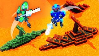 Lava BATTLESHIPS and Robot Invasions! - Clone Drone in the Danger Zone!