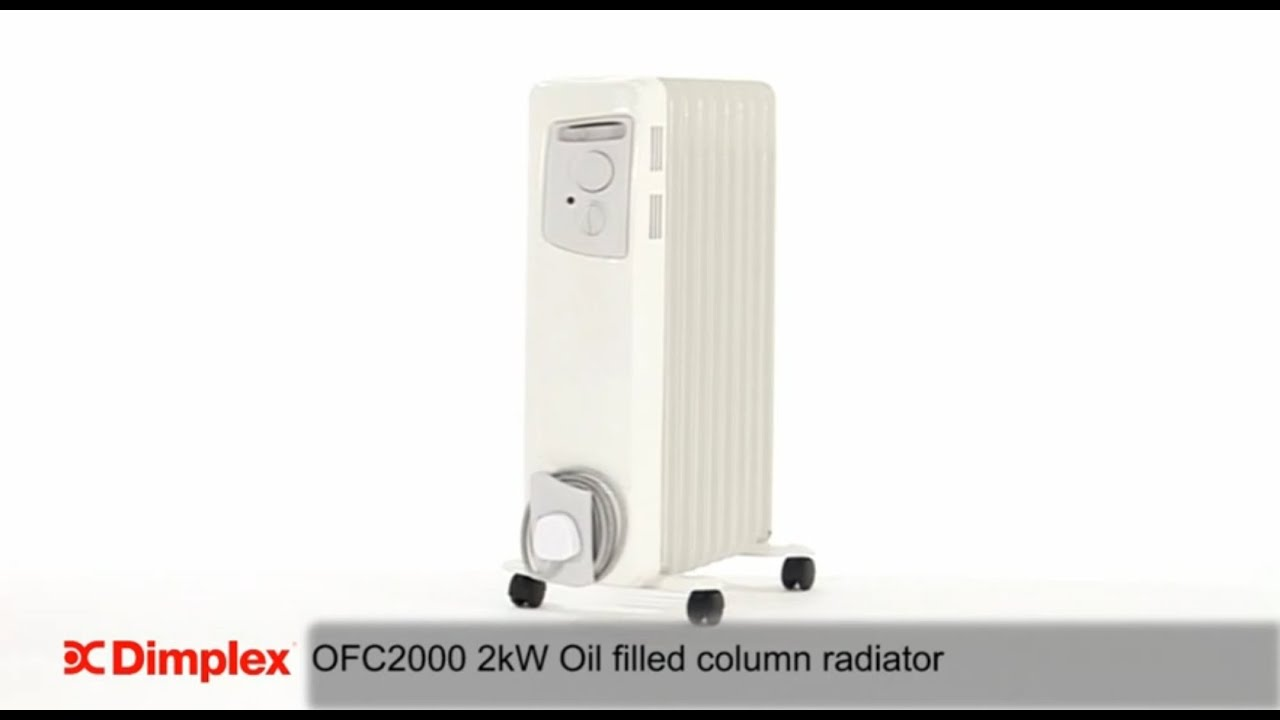 Dimplex Oil Filled Column Heater Radiator Youtube Removing Baseboard Wiring