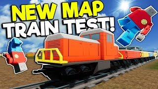 CRASHING & RACING THE NEW LEGO CITY TRAIN! - Brick Rigs Roleplay Gameplay - New Map Creations