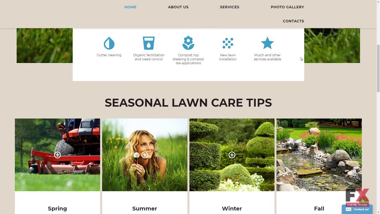 Lawn Care Website Template TMT | Free Template Garret Leland - YouTube