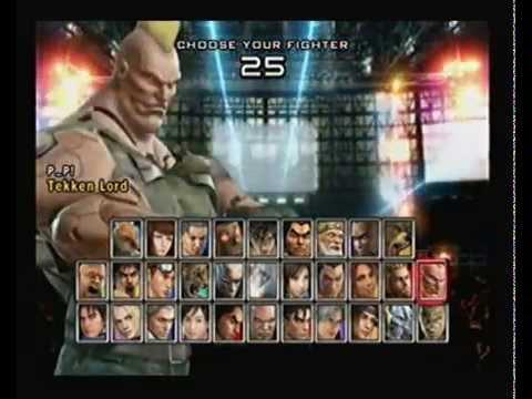 Tekken 5 All Characters At Tekken Lord Rank Youtube