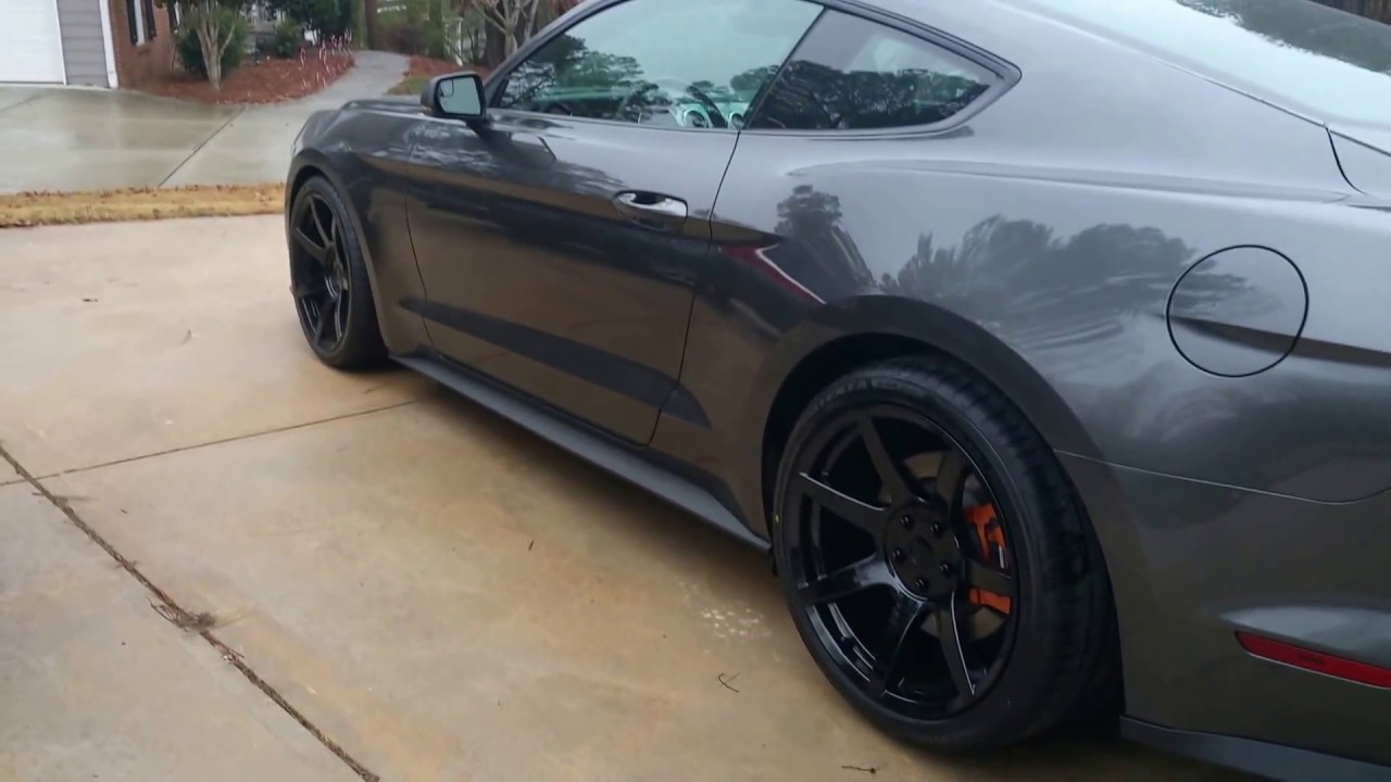 Mustang Gt350 R >> Mustang S550 2016 project 6gr wheels - YouTube