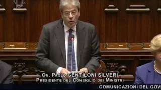 Comunicazioni programmatiche del Presidente del Consiglio Paolo Gentiloni