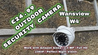 Simple Cheap Effective Wansview W4 Outdoor WiFi Night-vision HD 1080P Security camera