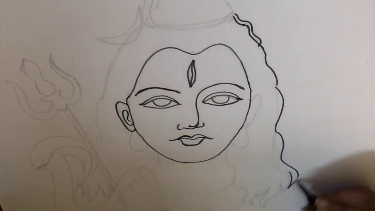 How to draw lord shiva mahadev in simple steps