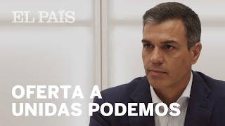 PEDRO SÁNCHEZ ofrece a PABLO IGLESIAS una oficina de control del acuerdo de GOBIERNO