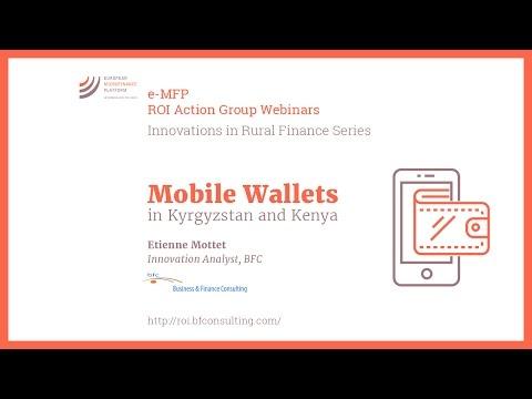 Mobile Wallets in Kyrgyzstan and Kenya | Etienne Mottet | e-MFP ROI AG Webinar