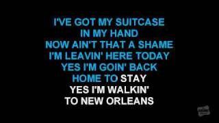 Walking To New Orleans in the style of Fats Domino karaoke video