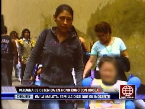 América Noticias: Peruana está detenida en China por llevar droga en su maleta