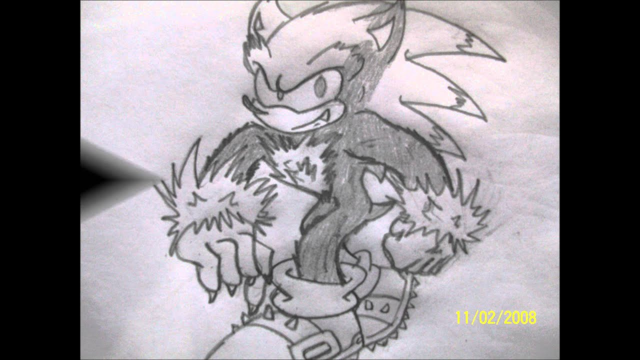 Dibujando A : Sonic The Werehog And Silver The Hedgehog - YouTube