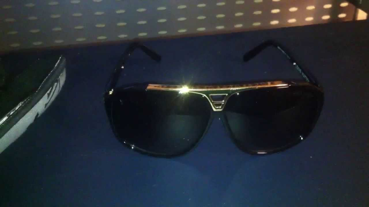 3283fd96516a  13 Louis Vuitton Evidence Replica Fake Sunglasses (iOffer) - YouTube